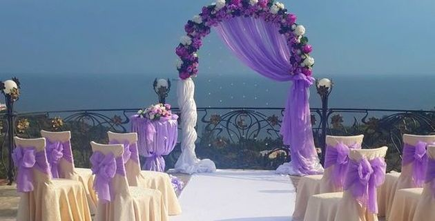 Official wedding ceremony at the Restaurant