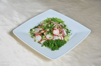 adish & cucumbe salad