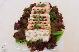 Turkey terrine with pistachios