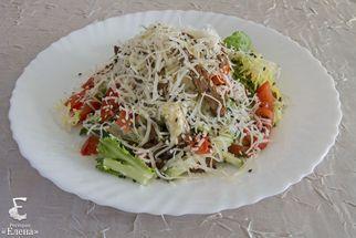 salad with beef and parmesan
