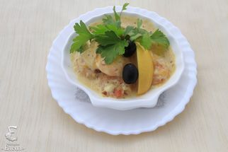 Shrimp with cream-cheese sauce