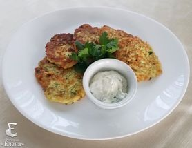 Fritters from courgettes